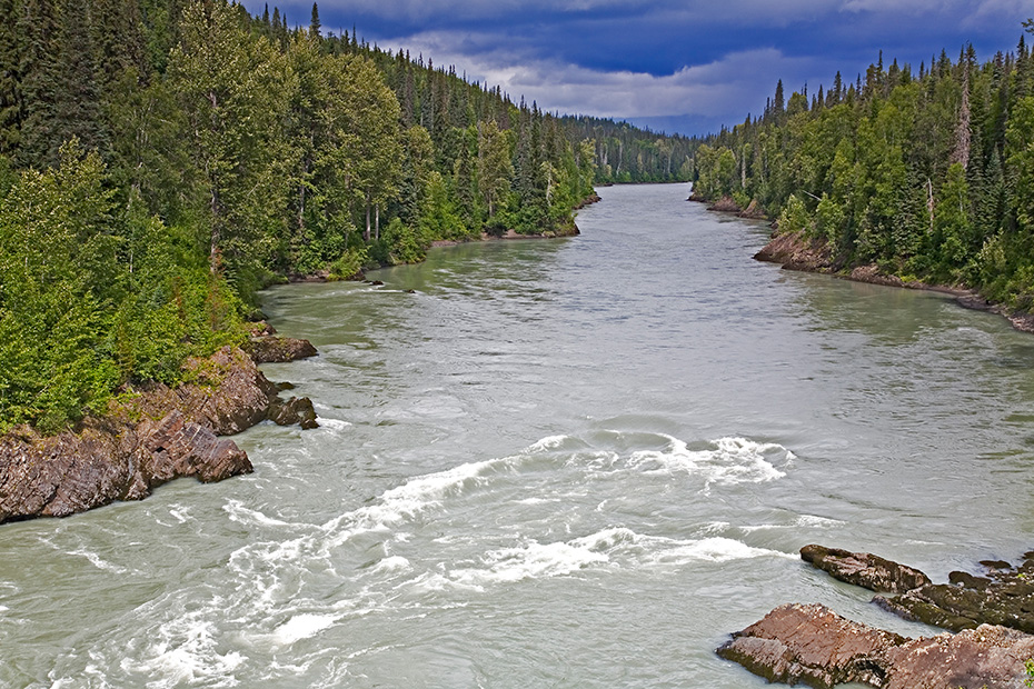 Der Fluss Nass in British Columbia, British Columbia  -  Kanada, Nass-River in British Columbia
