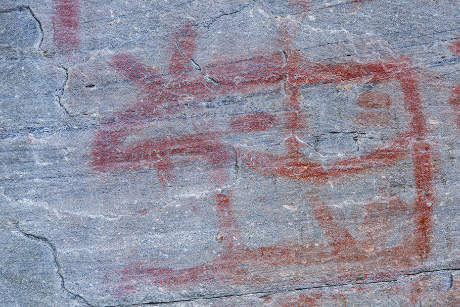 Es ist erstaunlich, das einige Motive nach 4000 Jahren noch so gut zu erkennen sind, der Elch sieht so aus als waere er erst gestern von Kindern mit Kreide auf die Steine gemalt worden, Auf dem Flatruet in Schweden, It is amazing that some motifs are still so well recognizable after 4000 years, the two moose are clearly visible, as if they had been painted only yesterday by children with chalk on the stones
