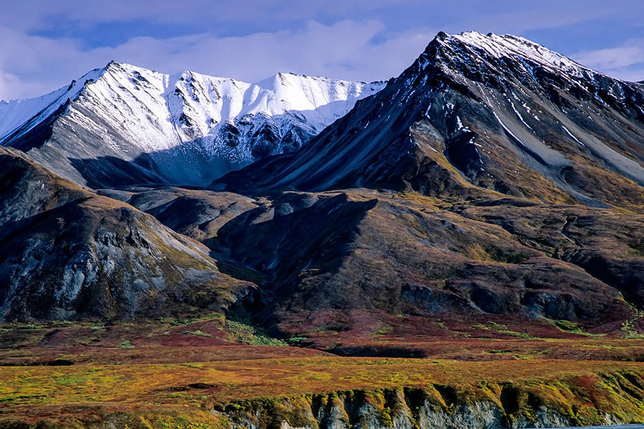 Mount Eielson und herbstliche Tundralandschaft, Denali Nationalpark  -  Alaska, Mount Eielson and tundra landscape in indian summer