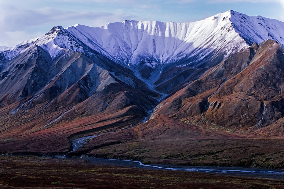 Mount Eielson und herbstliche Tundralandschaft, Denali Nationalpark  -  Alaska, Mount Eielson and tundra landscape in autumn