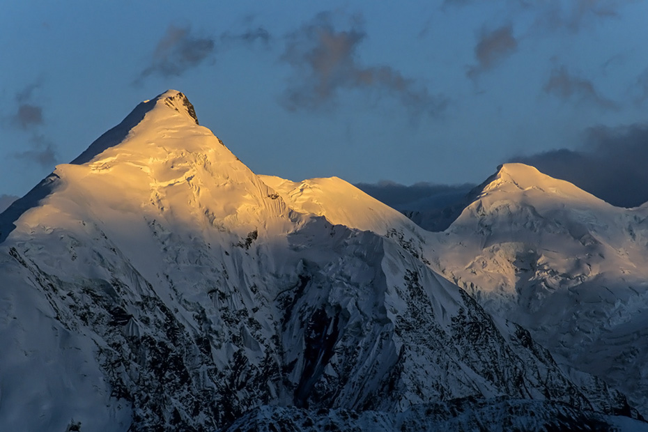 Gipfel des Mount Brooks im Abendlicht, Denali Nationalpark  -  Alaska, Peak of Mount Brooks at dusk