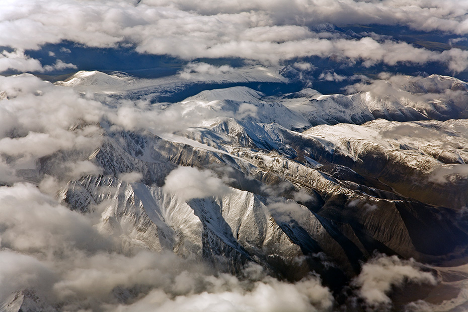 Luftaufnahme der Brooks-Bergkette, Alaska  -  USA, Aerial photograph of the Brooks Range